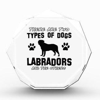 Labrador dog Designs Acrylic Award