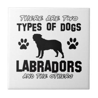 Labrador dog Designs Tile