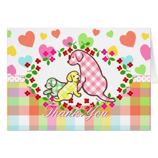Labrador Dog Family Card