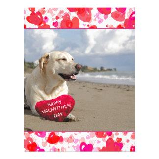 Labrador dog Heart Happy Valentine's day Letterhead