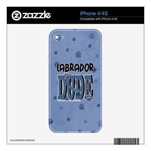 Labrador DUDE Skins For iPhone 4