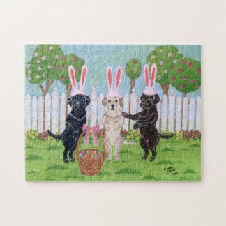 Labrador Easter Bunnies Jigsaw Puzzle