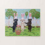 Labrador Easter Bunnies Jigsaw Puzzles