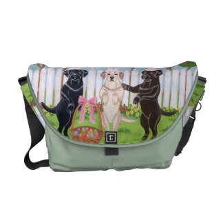 Labrador Easter Bunnies!! Painting Courier Bag