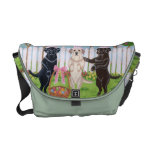 Labrador Easter Bunnies!! Painting Messenger Bags