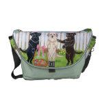 Labrador Easter Bunnies!! Painting Messenger Bags