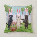 Labrador Easter Bunnies Pillows