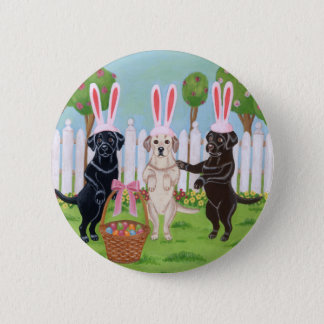 Labrador Easter Bunnies!! Pinback Button
