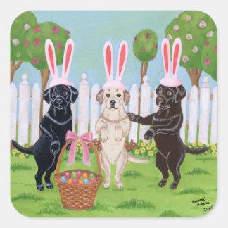 Labrador Easter Bunnies!! Square Sticker