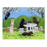 Labrador & Easter Eggs Post Card