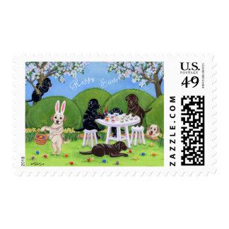Labrador & Easter Eggs Stamp