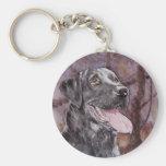 Labrador. Gun Dog Basic Round Button Keychain