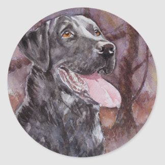 Labrador. Gun Dog Classic Round Sticker