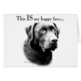 Labrador Happy Face Greeting Card