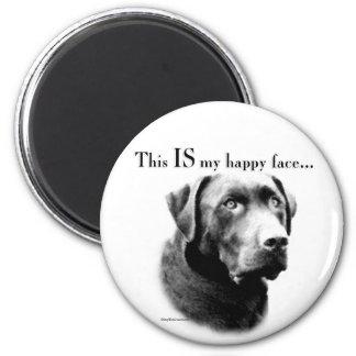 Labrador Happy Face 2 Inch Round Magnet