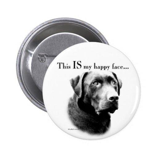 Labrador Happy Face Pin