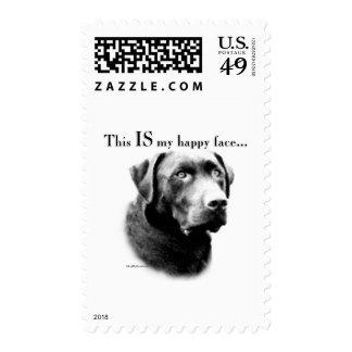 Labrador Happy Face Postage Stamp