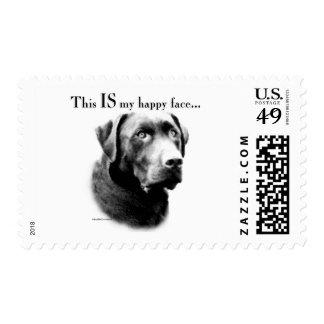 Labrador Happy Face Postage Stamps