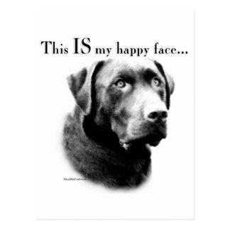 Labrador Happy Face Postcard