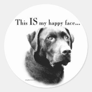 Labrador Happy Face Classic Round Sticker