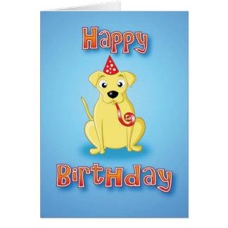labrador - hat&whistle - happy birthday cards