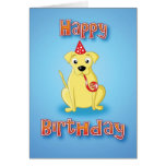 labrador - hat&whistle - happy birthday cards