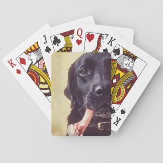 Labrador head. playing cards