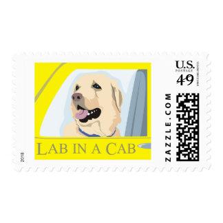 Labrador in a Cab Postage