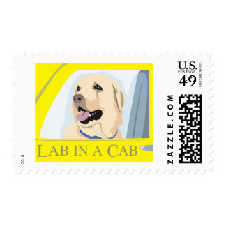 Labrador in a Cab Postage Stamp