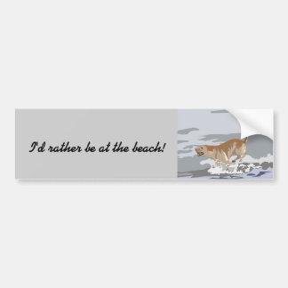 Labrador in the Ocean Bumper Stickers