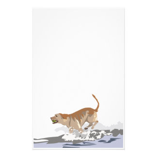 Labrador in the Ocean Customized Stationery