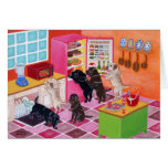 Labrador Kitchen Party Painting Card
