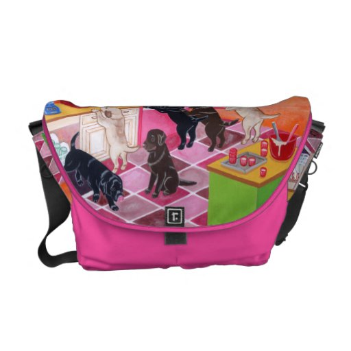 Labrador Kitchen Party Painting Courier Bags