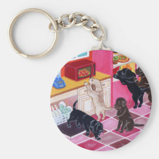 Labrador Kitchen Party Painting Keychain