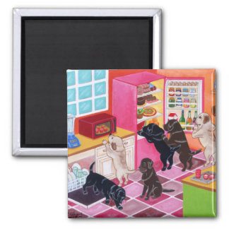 Labrador Kitchen Party Painting Magnet