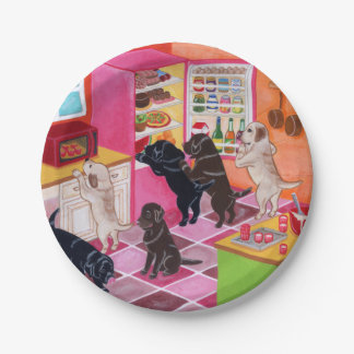 Labrador Kitchen Party Painting Paper Plate