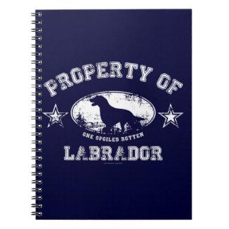 Labrador Libro De Apuntes Con Espiral