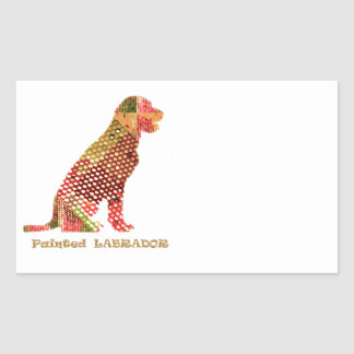 LABRADOR : Majestic Elegant Dog Rectangular Sticker