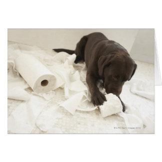 Labrador marrón tarjeta de felicitación