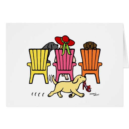 Labrador Mom at Poolside Card