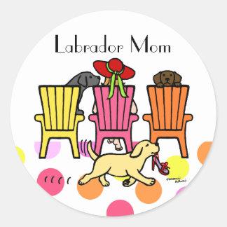 Labrador Mom at Poolside Sticker