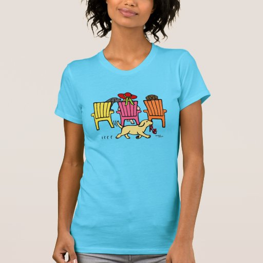 Labrador Mom at Poolside T-Shirt