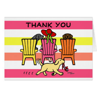 Labrador Mom at Poolside Thank You Card