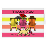 Labrador Mom at Poolside Thank You Greeting Card