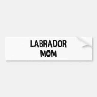 Labrador Mom Bumper Sticker