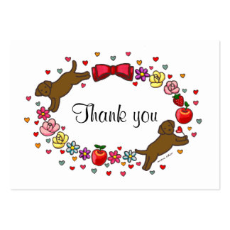 LABRADOR MOM (Chocolate Lab) Thank You Card Large Business Cards (Pack Of 100)
