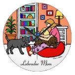 Labrador Mom Reading Wallclocks