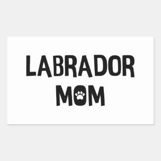 Labrador Mom Rectangular Sticker