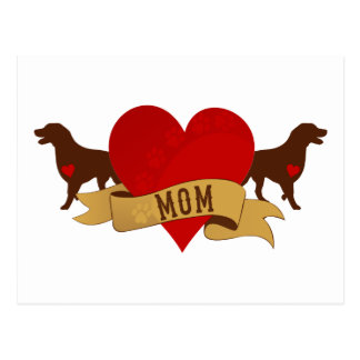 Labrador Mom [Tattoo style] Postcard