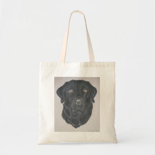 Labrador negro bolsa de mano